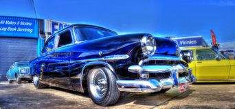 Black 1950s Ford Customline Stock Photography