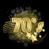 Black 70s. Black and gold 70s background vector illustration