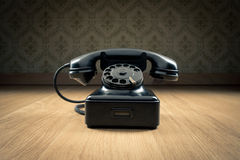 Black 1950s phone Stock Image