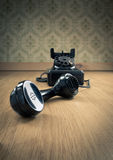 Black 1950s phone Royalty Free Stock Photos