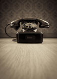 Black 1950s phone Stock Images