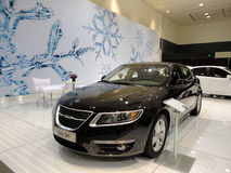 Black Saab 95 on Display Royalty Free Stock Photos