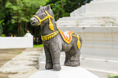 Black sacred horse with decorated Royalty Free Stock Photo