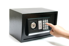 Black safe Stock Image