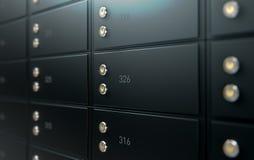 Black Safe Deposit Box Wall Stock Image