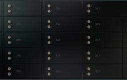 Black Safe Deposit Box Wall Royalty Free Stock Photography