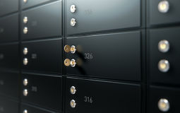 Black Safe Deposit Box Wall Stock Photos