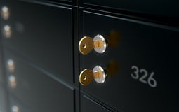 Black Safe Deposit Box Wall Stock Images
