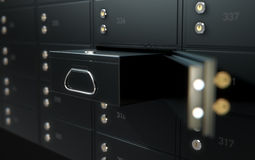 Black Safe Deposit Box Wall Stock Image