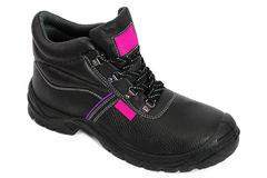Black Safety Boot with Pink Royalty Free Stock Photography