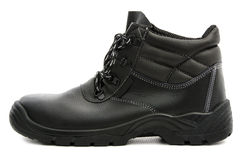 Black Safety Shoe Royalty Free Stock Photography