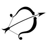 Black Sagittarius Zodiac Star Sign Royalty Free Stock Photos
