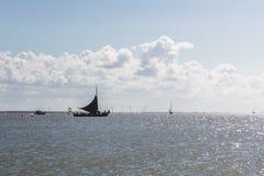 Black Sailboat, Marken, The Netherland Stock Images