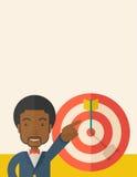 Black salesman hit the sales target Royalty Free Stock Images