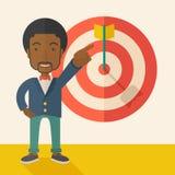 Black salesman hit the sales target Stock Image