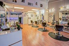Black Salon Chairs Stock Image