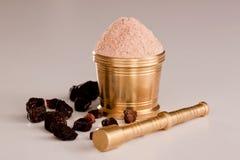 Black Salt Powder Royalty Free Stock Images