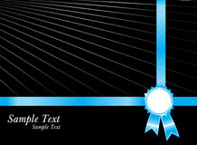 Black sample text with blue silver award ribbons Stock Images