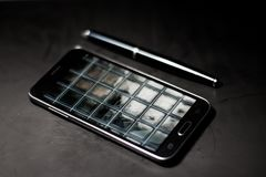 Black Samsung Android Smartphone Stock Images