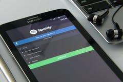 Black Samsung Galaxy Tab Royalty Free Stock Photography