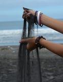 Black sand Stock Photo