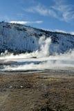 Black Sand Basin, Winter, Yellowstone NP Stock Photography