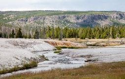 Black Sand Basin in Yellowstone National Park Stock Photos