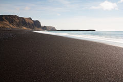 Black Sand Beach Stock Photo