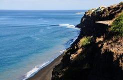 Black Sand Beach below Stock Image