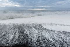 Black sand beach Iceland Stock Photo