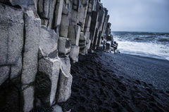 Black Sand Beach - Iceland. The world-famous Reynisfjara shore, near the village Vik in Myrdalur on Iceland`s South Coast, is widely regarded as the most Royalty Free Stock Images