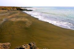 Black sand beach Royalty Free Stock Photo