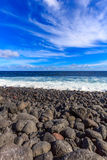 Black Sand Beach. At Kaimu beach park, Big Island, Hawaii Stock Photos