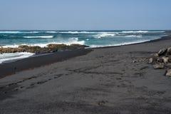 Black sand beach, Lanzarote, Spain Stock Photography