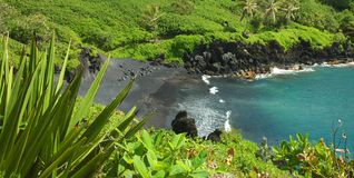 Black Sand Beach, Maui Royalty Free Stock Photo