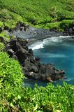 Black Sand Beach, Maui Royalty Free Stock Image