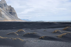 Black sand beach. Near Hofn in South East Iceland Royalty Free Stock Photo