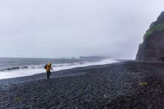 The black sand beach of Reynisfjara in Iceland Stock Images