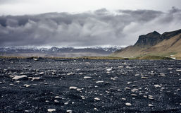 The black sand beach of Reynisfjara in Iceland Royalty Free Stock Photography