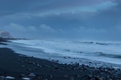 The black sand beach of Reynisfjara Royalty Free Stock Photos