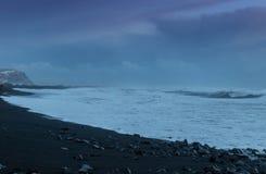 The black sand beach of Reynisfjara Stock Photo