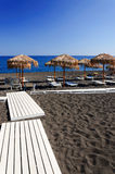 Black sand beach of Santorini Royalty Free Stock Images