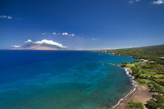 Black Sand Beach and south Maui coastline, Hawaii, USA Stock Photo