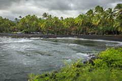 Black Sand Beach State Park, Maui, Hawaii, USA. Black Sand Beach State Park in on the Hana Road, Maui, Hawaii, USA Royalty Free Stock Image