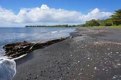 Black sand beach Tahiti island French Polynesia Stock Photography