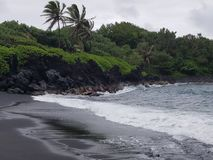 Black Sand Beach Royalty Free Stock Photography