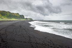 Black sand beach in Vik, Iceland Stock Image