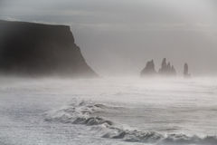 Black Sand Beach, Vik, Iceland Royalty Free Stock Images