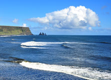 Black sand beach in Vik Royalty Free Stock Photo