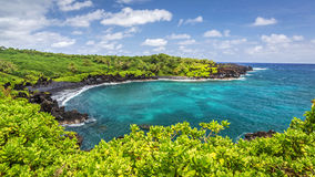 Black Sand Beach. In waianapanapa state park on the island of maui, Hawaii Stock Photography